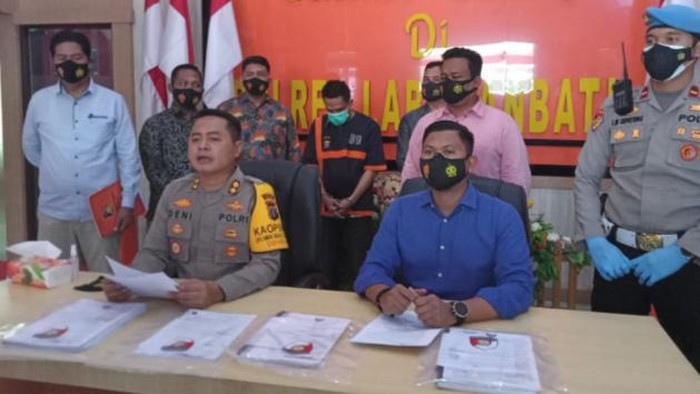 Konferensi pers di Polres Labuhanbatu (Ahmad FIM-detikcom)