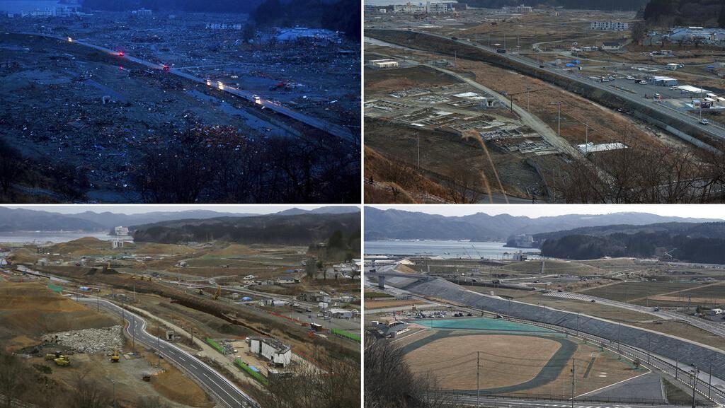 Potret Before-After 10 Tahun Tsunami Jepang