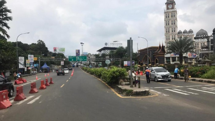 Lalin arah Puncak, Bogor, dari Simpang Gadog lancar, Kamis (11/3/2021) pukul 12.45 WIB.