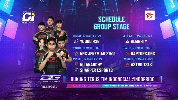 Dukung Tim Indonesia Menjadi Juara di Turnamen Kancah Regional CODM Garena Invitational 2021