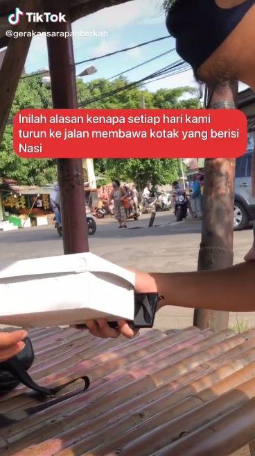Arti Nasi Kotak Bagi Driver Ojol Ini Bikin Banyak Bersyukur