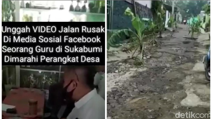 Guru di Sukabumi didatangi aparat desa karena posting jalan rusak