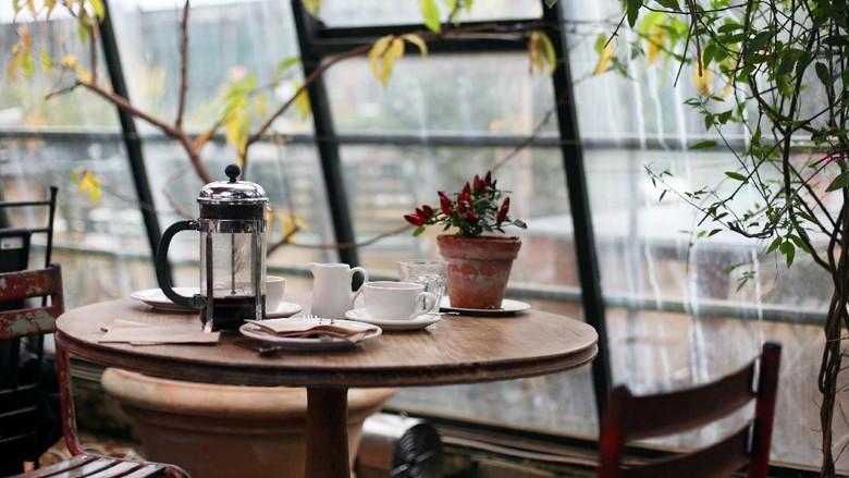 Ilustrasi kedai kopi