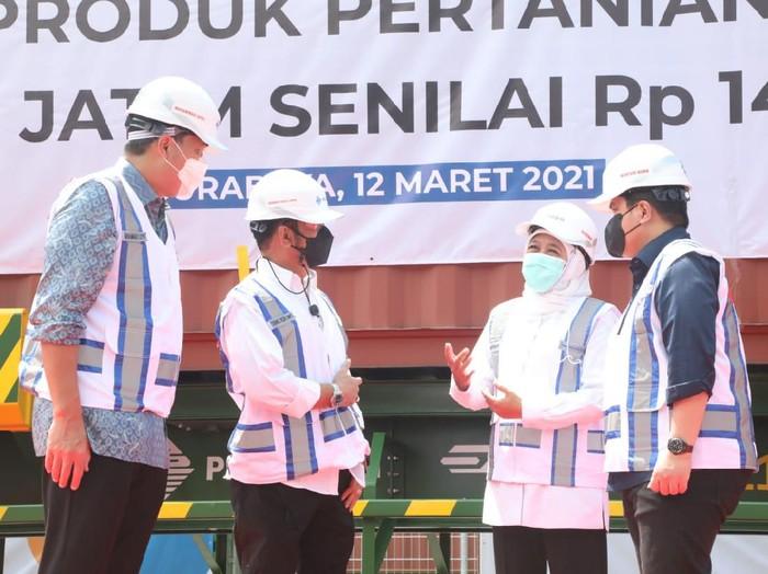 Menteri Pertanian Syahrul Yasin Limpo melepas ekspor produk pertanian di Jawa Timur senilai Rp 140 miliar.