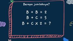 Teka-teki matematika ini sekilas tampak rumit. Namun, sebetulnya mudah bila tahu triknya. Yuk coba latih ketajaman otak dengan menjawab teka-teki berikut.