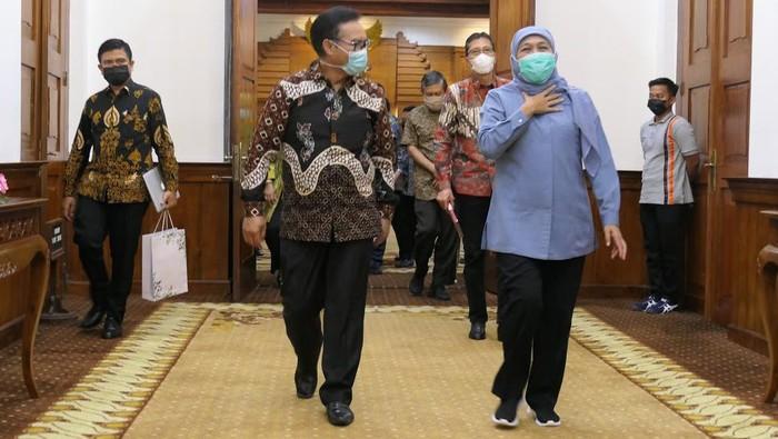 Gubernur Jawa Timur Khofifah Indar Parawansa mengadakan audiensi dengan Kepala BKKBN Pusat guna menindaklanjuti pencegahan dan penanganan stunting di Jawa Timur.