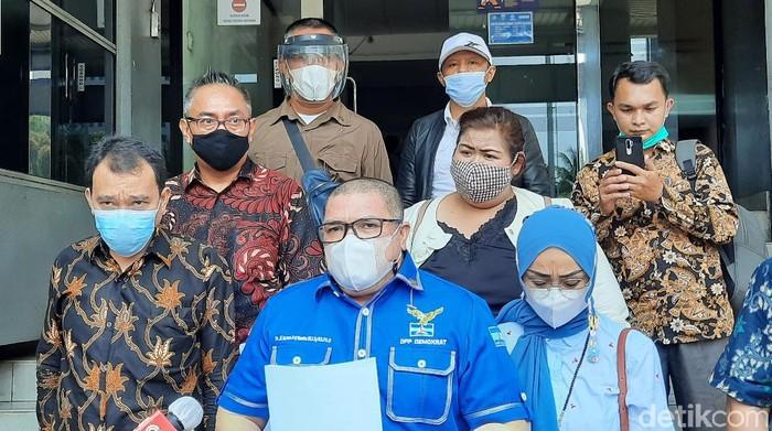 Ketua Bidang Advokasi dan Hukum DPP Partai Demokrat versi KLB, Razman Arif Nasution (Yogi/detikcom)