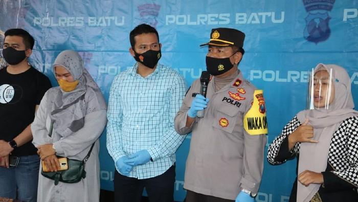 Konferensi pers kasus kematian dua mahasiswa UIN Maliki di Polres Batu