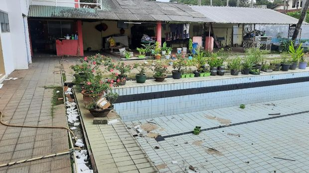 Lokasi rumah warga yang aksesnya ditutup tembok 2 meter di Ciledug