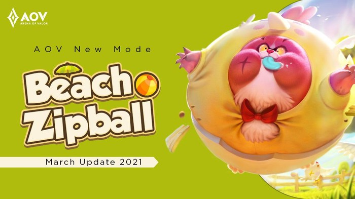 "Nantikan Mode Terbaru AOV, ""Beach Zipball"" dalam Patch Update di Bulan Maret 2021"