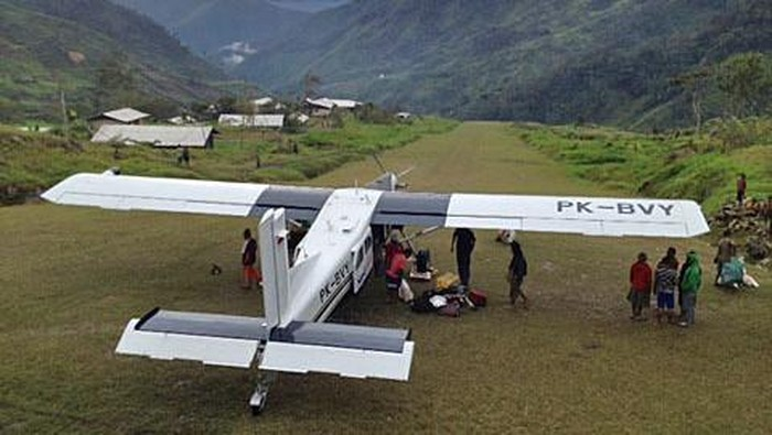 Pesawat perintis milik Susi Air di sandera KSB di Lapangan Terbang Wangbe, Kab Puncak, Jumat (12/3/2021) sekitar pukul 06.20 WIT