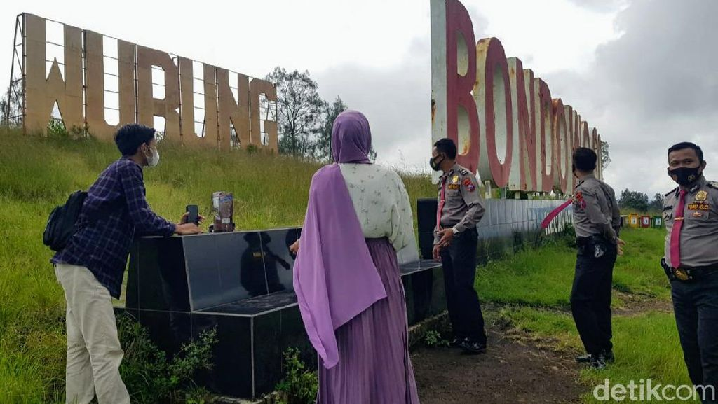 Menikmati Libur Panjang di Kawah Wurung Bondowoso dengan Prokes