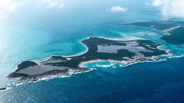 Little Ragged Island atau dikenal dengan nama St Andrews terletak di Kepulauan Bahama, Karibia. (Concierge Auctions)