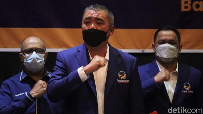 Dewan Pimpinan Wilayah (DPW) Nasdem Jabar menggelar Rakorwil di Kota Bandung. Rakorwil  itu mengangkat tema penguatan struktur dan Insfrastruktur Partai Nasdem.