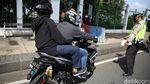 Puluhan Motor Terjaring Razia Knalpot Bising di Monas