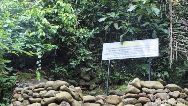 Situs itu berada berada di samping Kedung Pertelu, lokasi di mana tiga aliran sungai yaitu Sungai Paku, Sungai Paingan dan Sungai Tlahab bertemu jadi satu. Watu Dakon berasal dari zaman Megalitikum. (Vandi Romadhon/detikTravel)