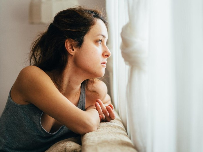 Concept of despair, depression, loss or mental condition