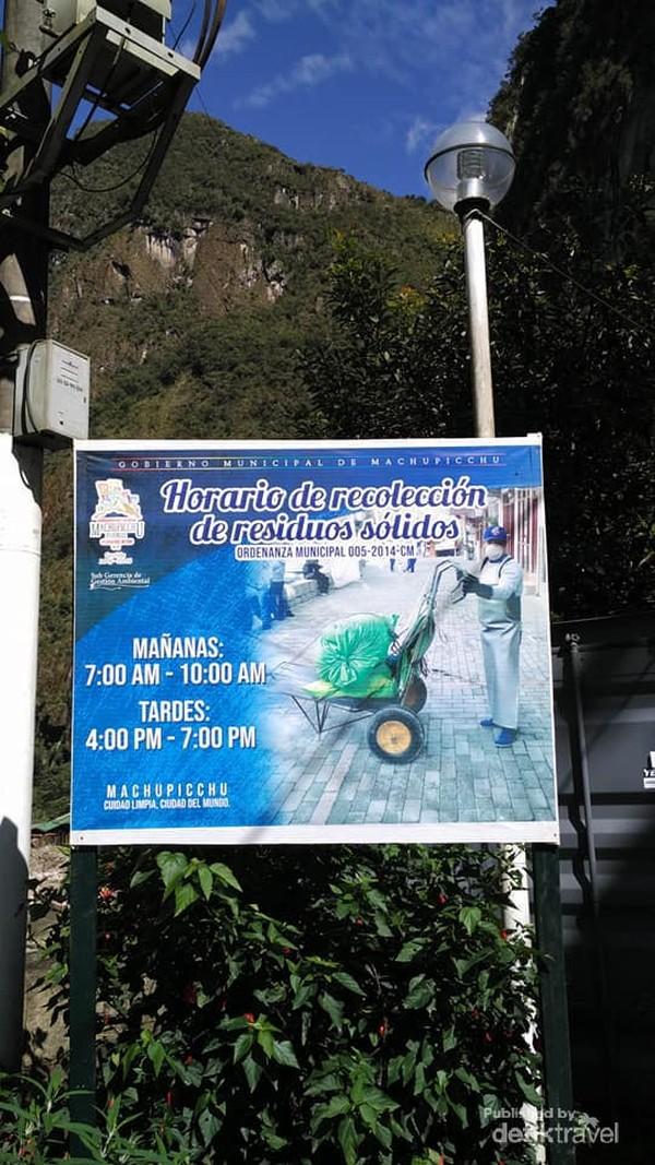 Baliho jadwal angkut sampah