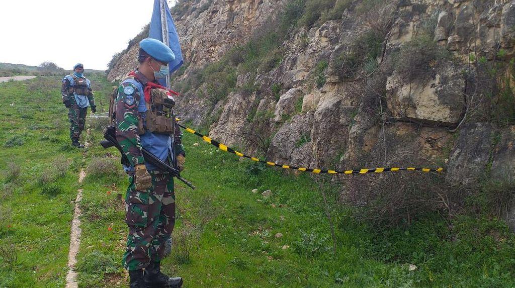 Satgas Garuda Temukan Mortir Aktif di Blue Line Lebanon Sisa Konflik 2006