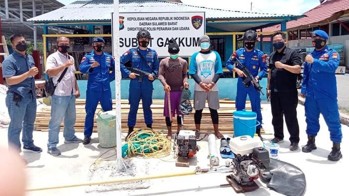2 Nelayan pengebom ikan di Mamuju, Sulbar ditangkap polisi (dok. Istimewa).