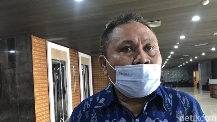 Jhoni Allen Marbun di DPR (Rolando Fransiscus Sihombing/detikcom).