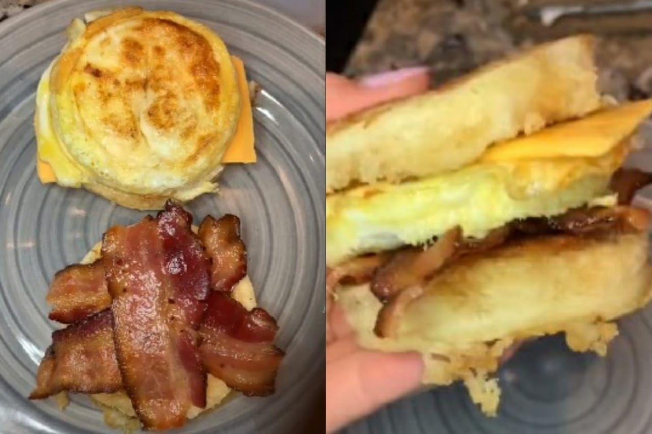 kreasi sandwich telur dari TikTok yang enak buat sarapan