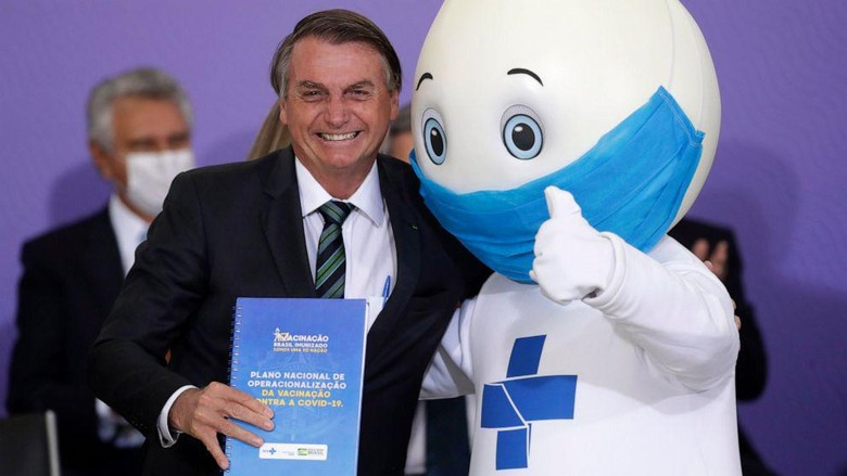maskot vaksin brasil