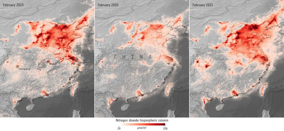 polusi udara mulai kembali ke level sebelum COVID-19
