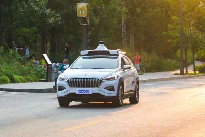 Robot taksi Baidu