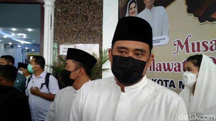 Wali Kota Medan, Bobby Nasution, membuka Musabaqah Tilawatil Quran (MTQ) ke-54 tingkat Kota Medan tahun 2021 (Datuk Haris/detikcom)