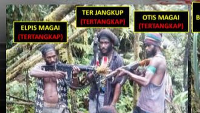 Anggota KKB Pimpinan Joni Botak, Ter Jangkup (Foto: dok. Polres Mimika)