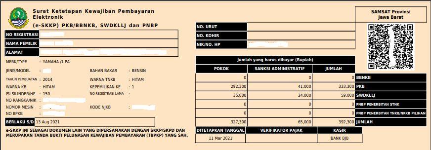Contoh dokumen e-SKKP