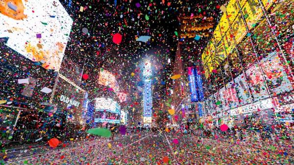 Tidak ada keramaian di malam pergantian tahun ke 2021. (Noam Galai/Getty Images/CNN Travel)