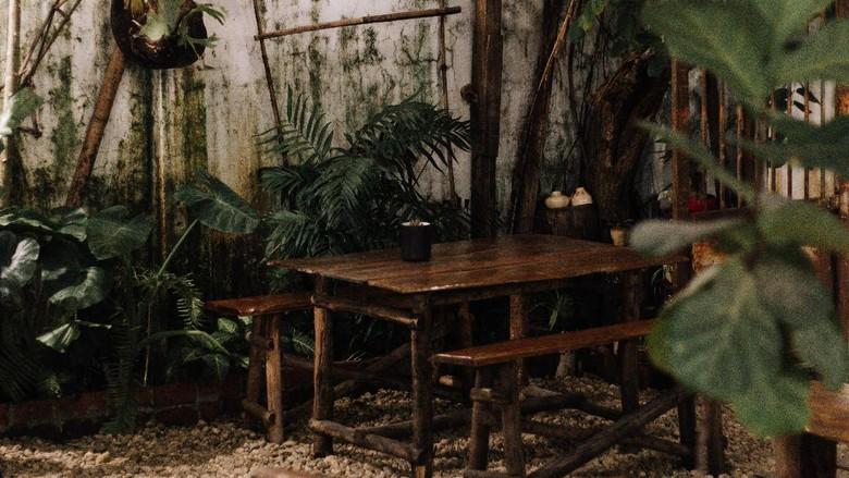 Ilustrasi kafe outdoor