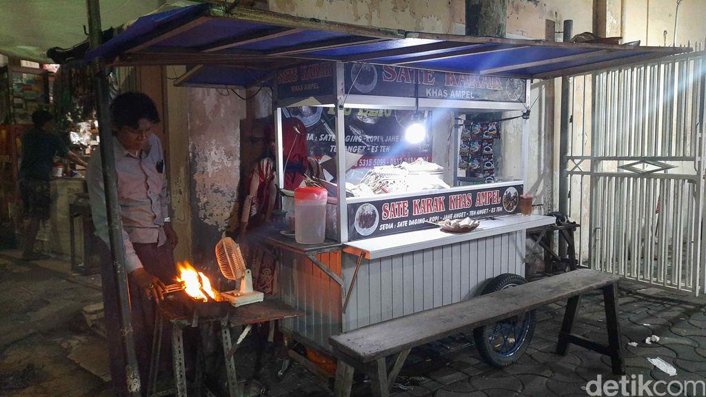 Unik dan Sedap! Sate Karak Asli dan Satu-satunya di Ampel Surabaya