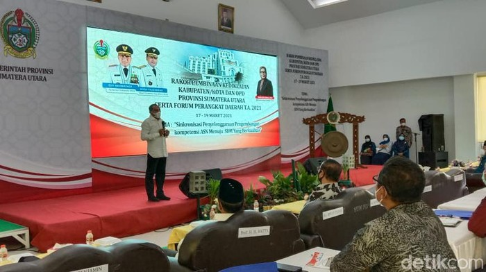 Gubernur Sumut (Gubsu) Edy Rahmayadi (Ahmad Arfah/detikcom)