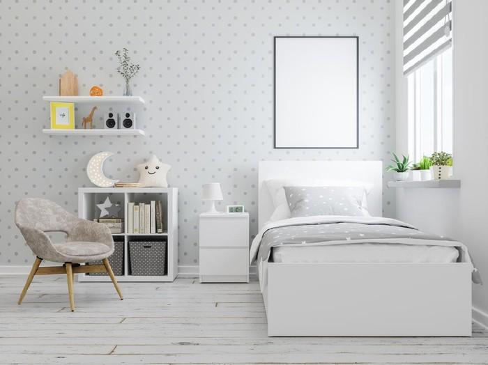 Mock up frame in teenager bedroom interior