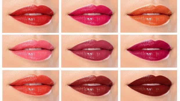 Ilustrasi warna lipstik