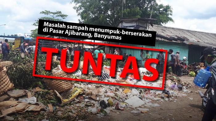 Masalah sampah di Pasar Ajibarang Banyumas kini tuntas. (Repro: Mindra Purnomo/detikcom)
