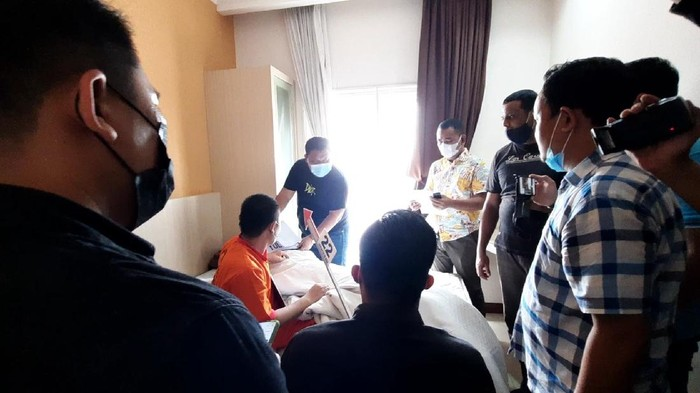 Rekonstruksi pembunuhan PSK di Palembang (Syahbana-detikcom)