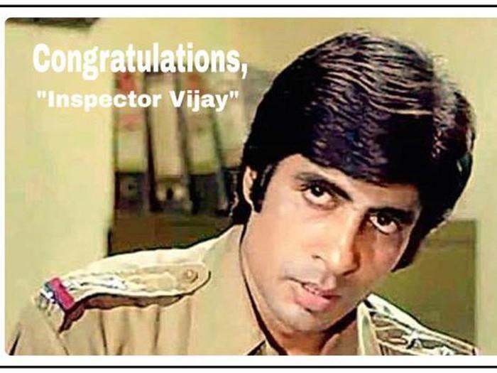 Amitabh Bachchan saat berperan sebagai inspektur Vijay di Zanjeer.