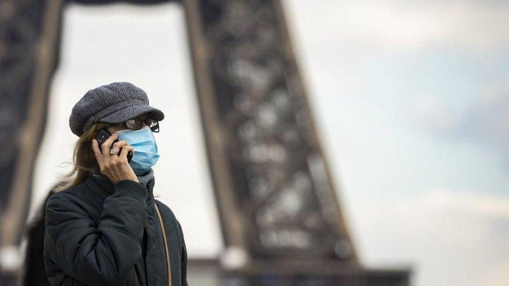 1.200 Orang Masuk ICU dalam Sehari, Paris Lockdown Lagi