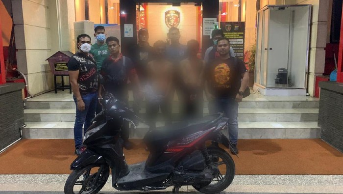 Polda Sumut menangkap sindikat penjambret yang menggasak ponsel anggota polisi di Medan (dok Polda Sumut)