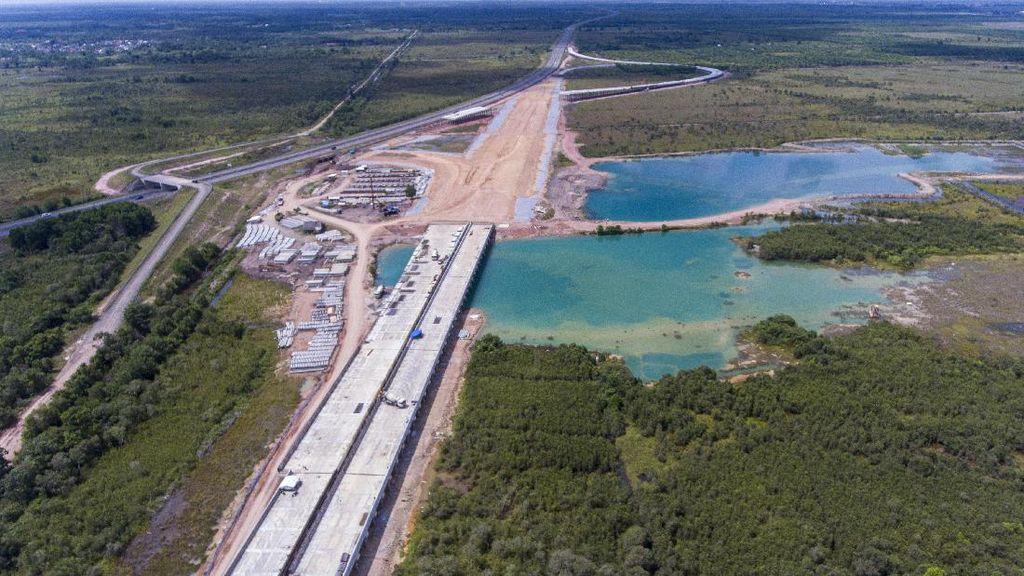 Tengok Progres Pembangunan Tol Palembang-Prabumulih