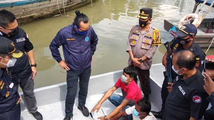 Tim gabungan gagalkan penyelundupan narkoba di Pantai Cermin, Sumut. Foto kiriman Deputi Pemberantasan BNN irjen Arman Depari