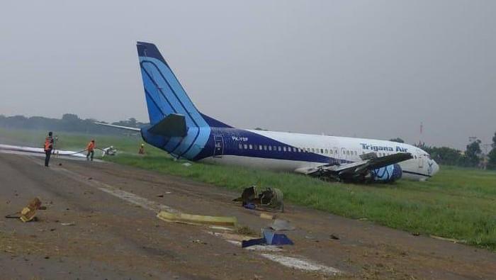 Pesawat Trigana Air tergelincir di Bandara Halim Perdanakusuma