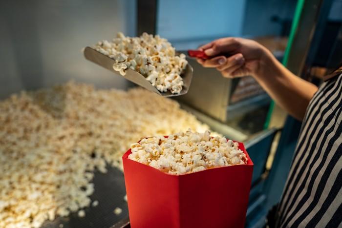 popcorn refiil gratis di xxi cafe