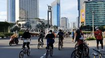Minggu Pagi, Pesepeda Kembali Padati Kawasan Bundaran HI