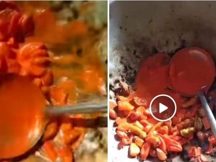 jagat maya di Banyuwangi diramaikan dengan video tentang cabai dicat. Cabai yang sedang ditumis mengeluarkan cairan warna oranye kemerahan. Lama-lama cairan itu terlihat semakin mengental.