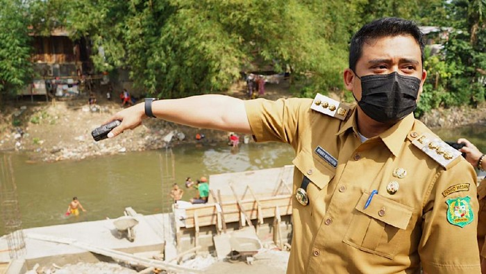 Bobby Nasution sidak ke Sungai Deli, Medan